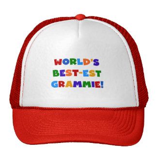 Bright Colors World's Best-est Grammie Gifts Trucker Hat