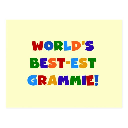 Bright Colors World's Best-est Grammie Gifts Post Card