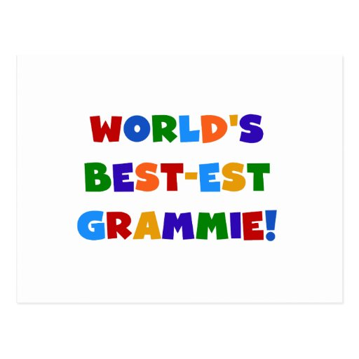 Bright Colors World's Best-est Grammie Gifts Post Cards