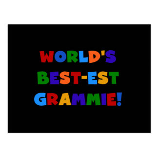 Bright Colors World's Best-est Grammie Gifts Postcard