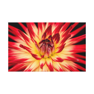 Bright colors yellow red flower artwork photo canvas print