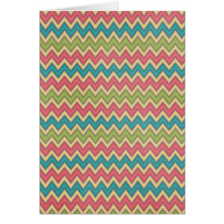Bright colors Zig Zag Pattern Background Cards