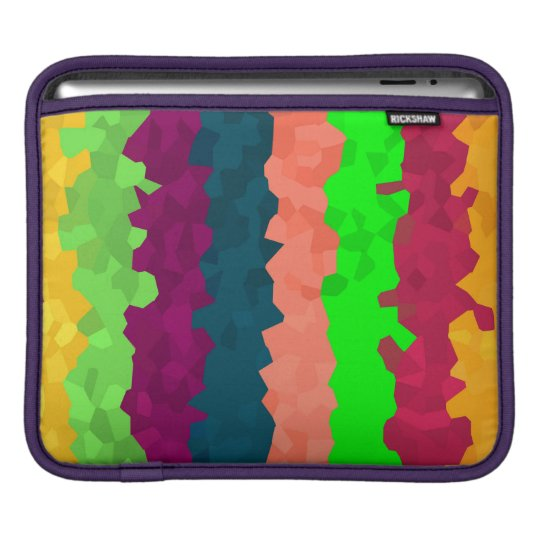 Bright Colour Lines Abstract Background iPad Sleeve