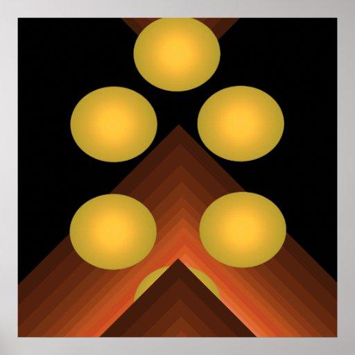 Bright Colour Pop Art Geometric Poster 8