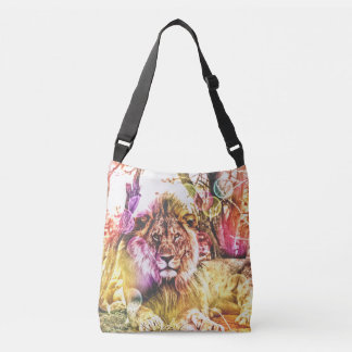 Bright coloured lion bag