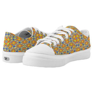 Bright coloured pattern low tops