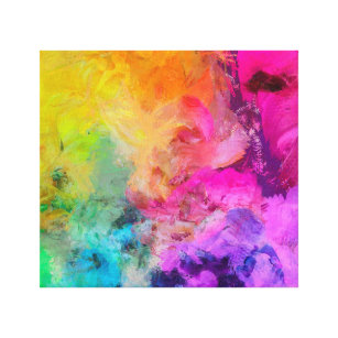 colourful abstract paintings canvas prints wall art zazzle co uk