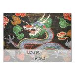 Bright Colourful Asian Dragon Fantasy Art 13 Cm X 18 Cm Invitation Card