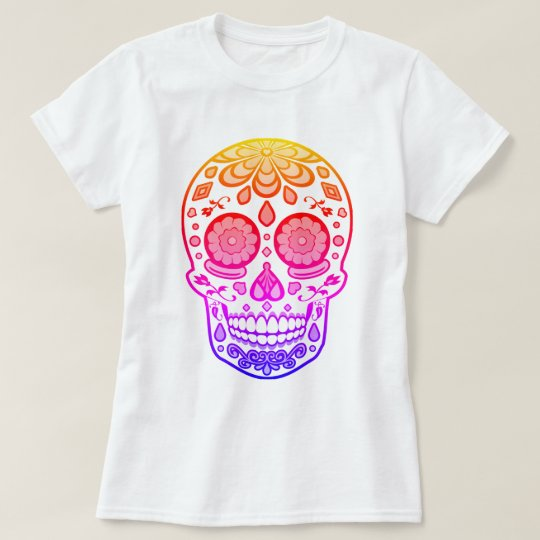 Bright Colourful Candy Sugar Skull Shirt