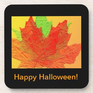 Bright colourful leaves coaster