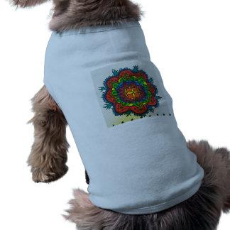 Bright Colourful Mandala Sleeveless Dog Shirt