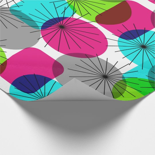 Bright Colourful Modern Geometric Pattern Wrapping Paper