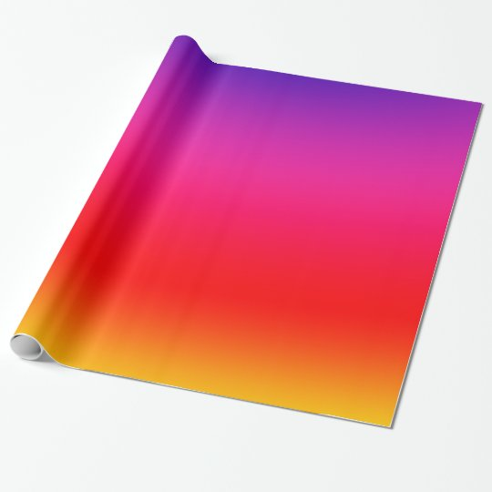 Bright Colourful Neon Gradient Wrapping Paper