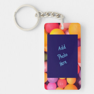 Bright Colourful Personalised Photo Key Ring