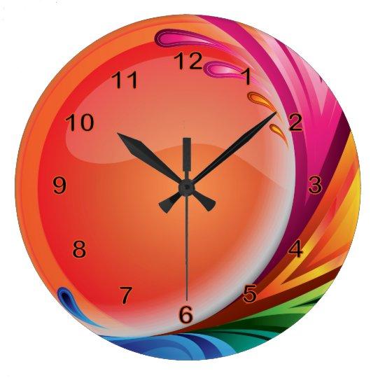 Bright Colourful Retro Abstract Clock