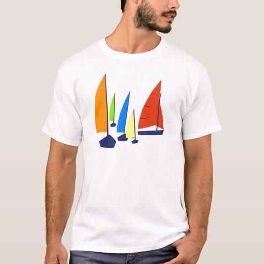 Bright colourful sailboats T-Shirt