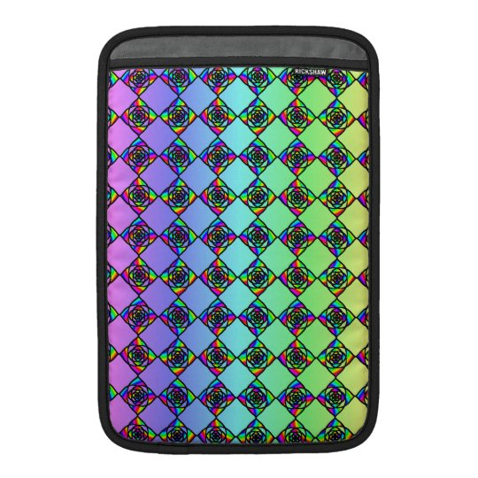 Bright Colourful Stained Glass Style Pattern. Sleeve For MacBook Air
