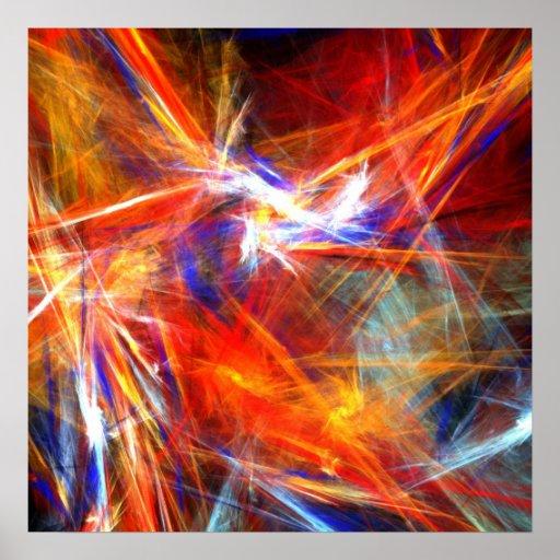 Bright colourful strokes - Poster