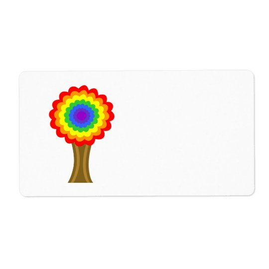 Bright Colourful Tree in Rainbow Colours.