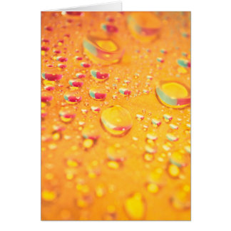 bright colourful water droplet design card