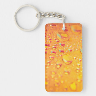 bright colourful water droplet design key ring