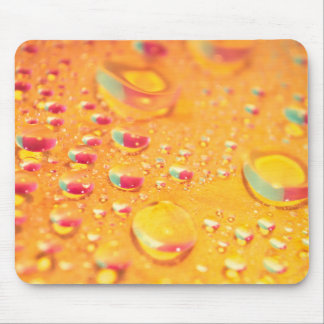 bright colourful water droplet design mouse mat