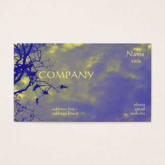 Bright Colourful Yellow and Purple Business Cards