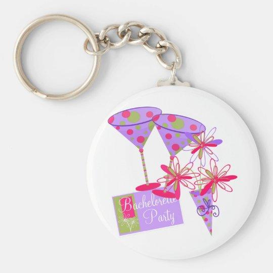 Bright Colours Bachelorette Party Key Ring