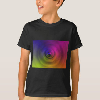 Bright colours of spiral blur as an abstract T-Shirt