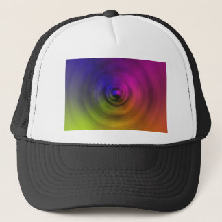 Bright colours of spiral blur as an abstract trucker hat