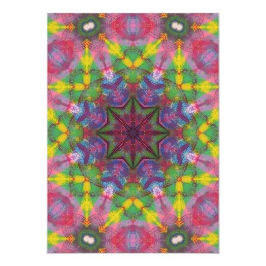 Bright Colours Paint Mandala Card