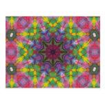 Bright Colours Paint Mandala Postcards
