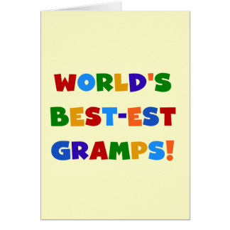 Bright Colours World's Best Gramps Gifts Greeting Card