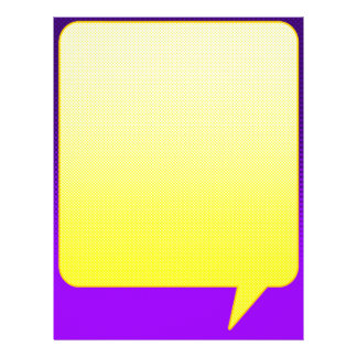 Bright Comic Letterhead Purple Yellow Flyers