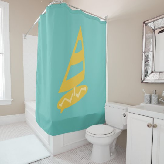 Bright Cool Surfer Shower Curtain