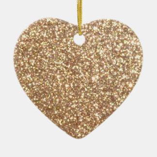 Bright Copper Glitter Sparkles Christmas Ornament