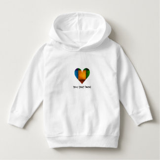 Bright Country Patchwork Heart Icon #1 Hoodie