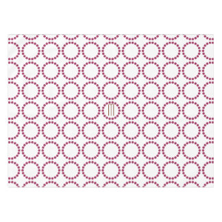 Bright Cranberry  Dots Rings Pattern Tablecloth