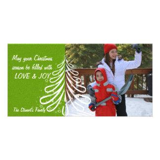 Bright Cristmas Tree Customized Photo Card