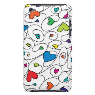 Bright curly hearts barely there iPod cover