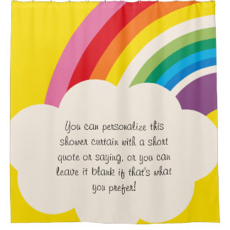 Bright Customized Rainbow and Cloud Shower Curtain