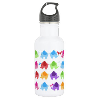 bright cute baby elephant design 532 ml water bottle