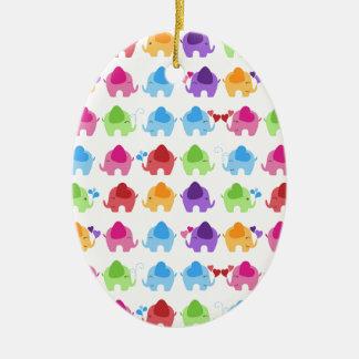 bright cute baby elephant design christmas ornament
