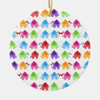 bright cute baby elephant design christmas ornament
