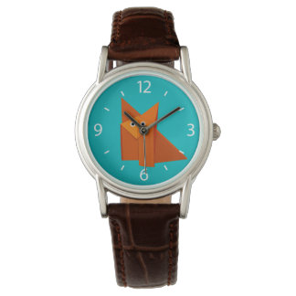 Bright Cute Origami Fox Watch