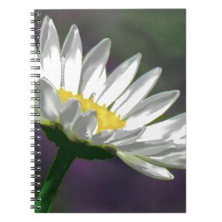 Bright Daisy Flower Spiral Notebook