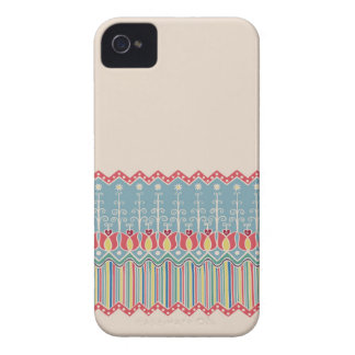 Bright design with ethnic doodle ornate border iPhone 4 cases