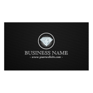 Bright Diamond Carbon Fiber Jewelry Business Card