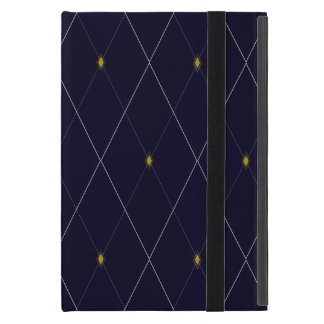 Bright Diamond Navy Argyle Case For iPad Mini