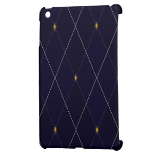 Bright Diamond Navy Argyle Case For The iPad Mini